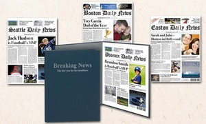 Simply Personalized: One or Two Printed Fake Newspaper Cover With Optional Case or Frame from Simply Personalized (Up to 54% Off)