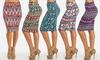 Junior Women's High Waisted Midi-Length Pencil Skirts