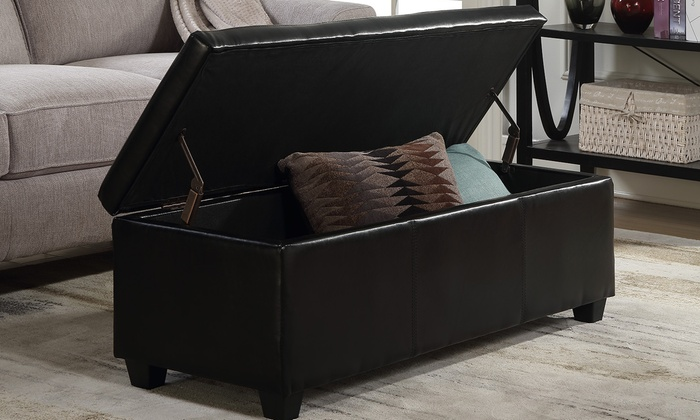 Stupendous Up To 41 Off On Storage Ottoman Bench Groupon Goods Pabps2019 Chair Design Images Pabps2019Com