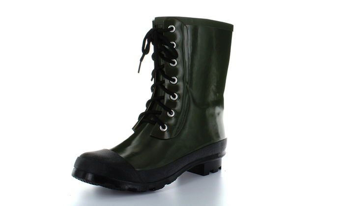 The Highland Women's Lace-Up Rain Boots