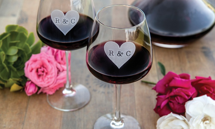 Miramonte Winery Temecula: One, Two, Four, or Six Custom-Etched Monogram Wineglasses from Miramonte Winery (Up to 54% Off)