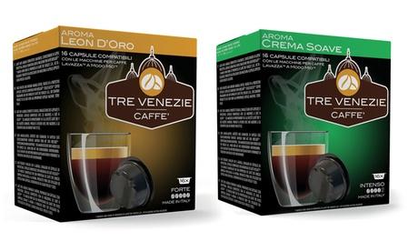 Fino a 400 capsule o cialde Tre Venezie compatibili Lavazza, Nespresso o Dolce Gusto