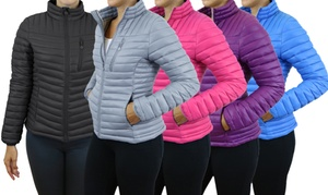 Galaxy Spire Women's Lightweight Puffer Jackets. Plus Sizes Available.