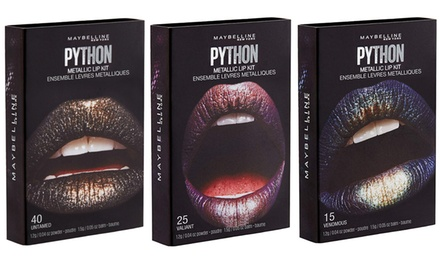 Maybelline Python Metallic ThreePiece Lip Kit