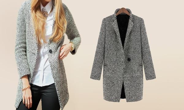 Manteau femme chiné Tica