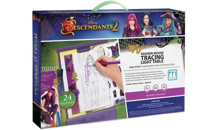 Make It Real Disney Descendants 2 Fashion Design Tracing Light Table