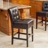 Bronson Espresso Brown Leather Counter Stools (Set of 2)