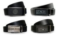 Men's Faux Leather Belt with Stainless Steel
