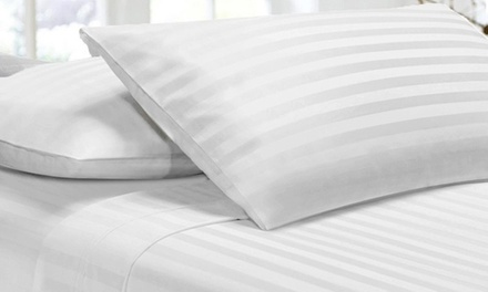 From $27 for a 1000TC Microfibre Stripe Sheet Set (Don't Pay up to $139)