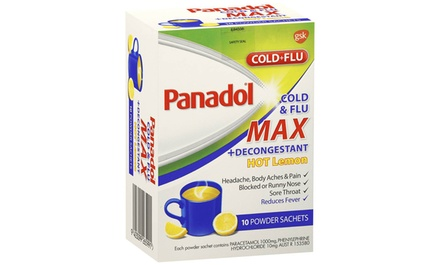 $16.95 Sachets of Panadol Paracetamol Cold and Flu Plus Decongestant Hot Lemon Drink Don't Pay $69