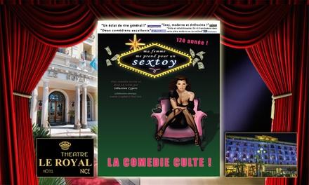 2 places en catégorie 1 pour la comédie Ma femme me prend pour un sextoy, date au choix à 22 € à lHôtel Le Royal