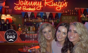 Johnny Ringo's: Party or Function + Food and Drinks for 10 ($79), 20 ($139) or 50 People ($299) at Johnny Ringo's (Up to $1,200 Value)