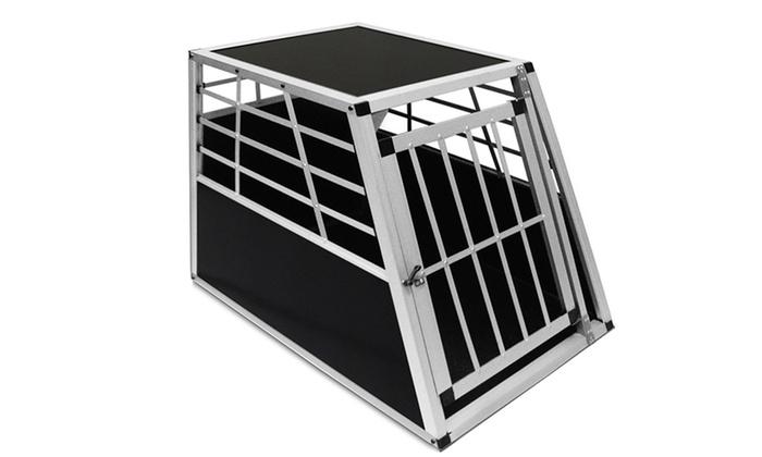 leichte alu hunde transportbox groupon goods. Black Bedroom Furniture Sets. Home Design Ideas