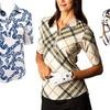 San Soleil Women's Print Polos
