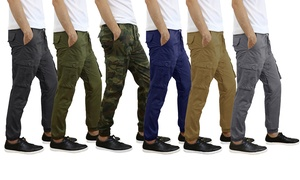 Men's Cotton Stretch Cargo Twill Joggers (2-Pack)