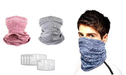 Sports Face Wrap Mask with 2 or 10 Filters