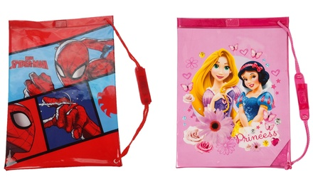Marvel Spiderman or Disney Princess Swim Bag