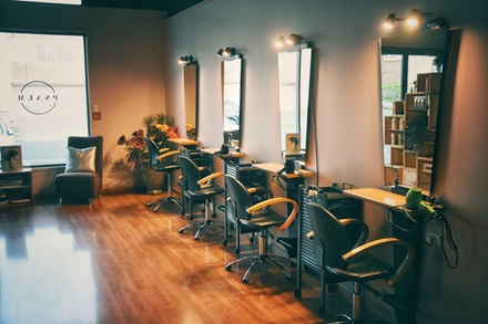 Head Massage, Blow Wave with Style Pkg ($89) Colour Pkg ($89), or Both ($119) at Psalm Hair Design (Up to $250 Value)