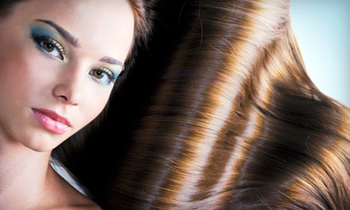 Emerald Cutz Hair Salon - Fairmount - Art Museum: Haircut with Style and Optional Color or Partial or Full Highlights at Emerald Cutz Hair Salon (Up to 75% Off)
