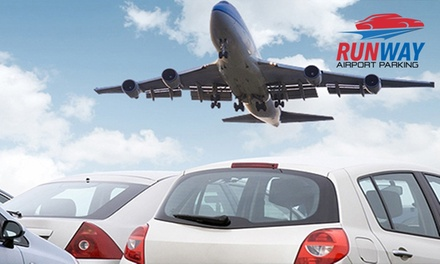 Parking + Shuttle Transfer: Up to 2 ($16) Up to 4 ($27) or Up to 28 Calendar Days ($165) @ Runway Airport Parking