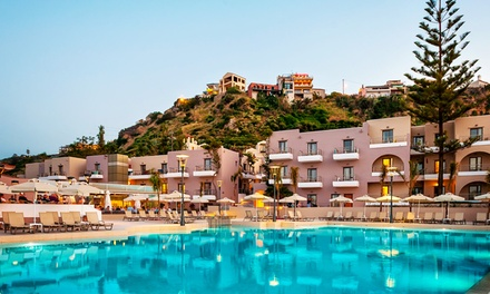 ✈ Crete: Up to 7Night AllInclusive Stay at the 4* Porto Platanias Village Resort with Return Flights*
