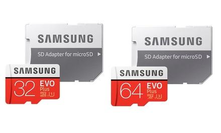 Carte micro SD Samsung EVO+  UHS  de 32 ou 64 Go, avec adaptateur, livraison offerte