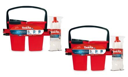 2 set completo lavapavimento TONKITA