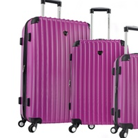 Deals on Travelers Club Chicago Expandable Hard-Sided Spinner Luggage Set 3-Piece