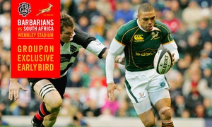 Barbarians Rugby: Barbarians v South Africa: Child (£23), Adult (from £35) or Family (from £99) at Wembley Stadium (Up to 42% Off*)