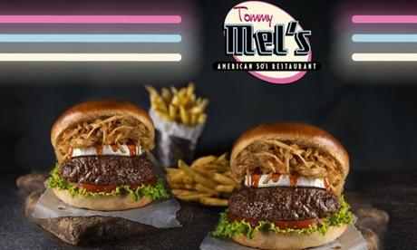 Menú para 2 personas con entrante, principal, bebida y milkshake desde 19,95 € en Tommy Mel's
