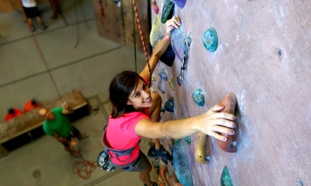 Indoor Rock Climbing at Hangar 18 Indoor Climbing Gyms (Up to 53% Off). Three Options Available.