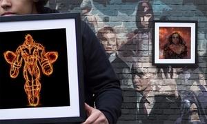 Superhero Art on Framed Canvas from Graff.io at Superhero Art on Framed Canvas from Graff.io, plus 6.0% Cash Back from Ebates.