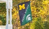 EVERGREEN ENTERPRISES INC.: NCAA House Divided Rivalry Flag, Flagpole, or Cast-Iron Flag Bracket