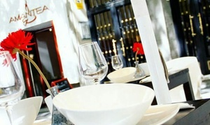 oferta: Menú italiano para 2 o 4 con aperitivo, entrantes, principal, postre y bebida o botella de vino desde 19,95 € en Amantea