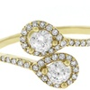 Wrap Ring with Micro Pave Cubic Zirconia in Solid 14K Gold