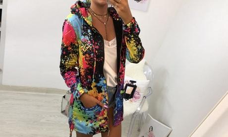 Sudadera multicolor para mujer