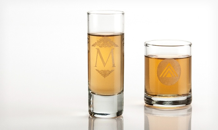 Set of 4 Personal Wine Custom-Engraved Shot Glasses: Set of 4 Custom-Engraved Shot Glasses from Personal Wine. Free Shipping.