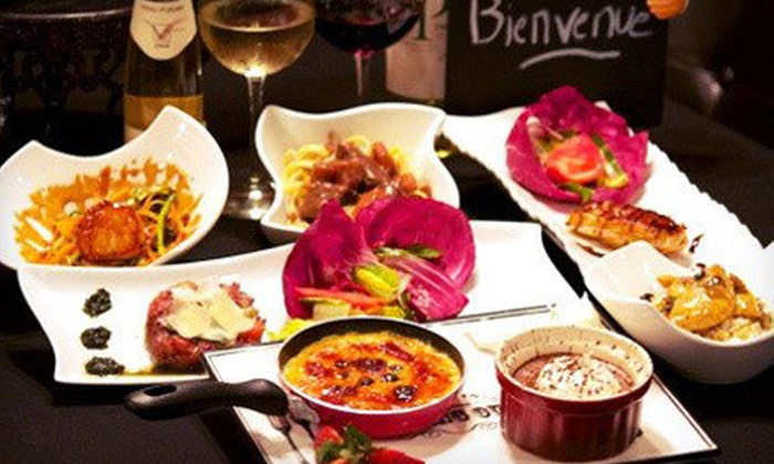 Bistro 1902 - Downtown Hollywood: $41 for French Dinner for Two with Unlimited Wine (Up to $95.80 Value)