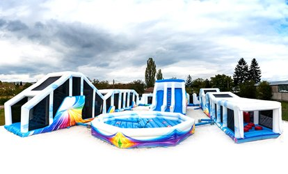 One- or Two-Hour Inflatable Fun Park Entry for Up to 4 at Cloud 9  (Up to 53% Off)
