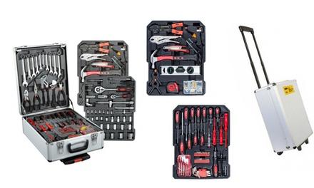 Boite à outils PWR avec des roues (186 outils) à 119 € (83% de réduction)