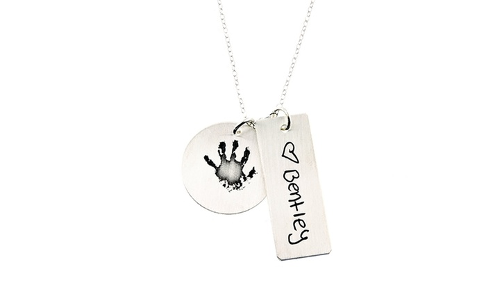 Hannah Design: Custom Hand Print Necklace from Hannah Design (53% Off)