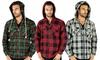Men's Sherpa-Lined Zip Up Hoodie: Men's Sherpa-Lined Zip Up Hoodie
