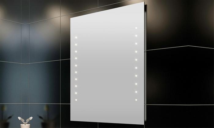 Spiegel Met Led : Tot op spiegel met led licht groupon producten