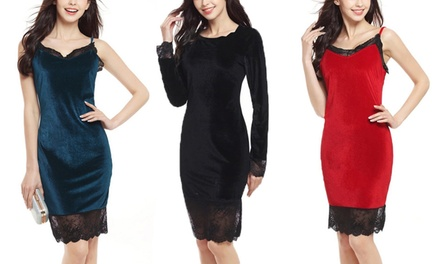 $19 for a Bodycon Lace Stitching Dress