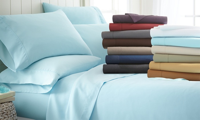 Elegant Microfiber Merit Linens Bed Sheets Sets (6 Piece) ...