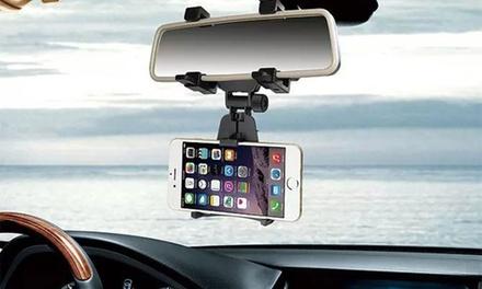 1 o 2 soportes de teléfono para el retrovisor del coche