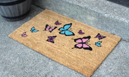 Heavy Duty Printed Coir Doormat with Vinyl Backing