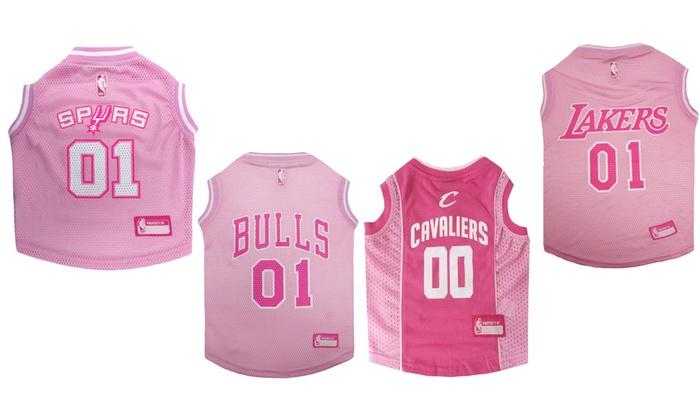 78baf795666 Officially Licensed NBA Pink Pet Jersey