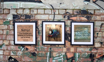 Banksy Wooden Canvas Print from £5.95 (Up to 91% Off)