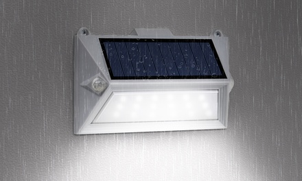 1, 2 ou 4 spots solaires à LED mural avec détecteur de mouvement à lumière blanche